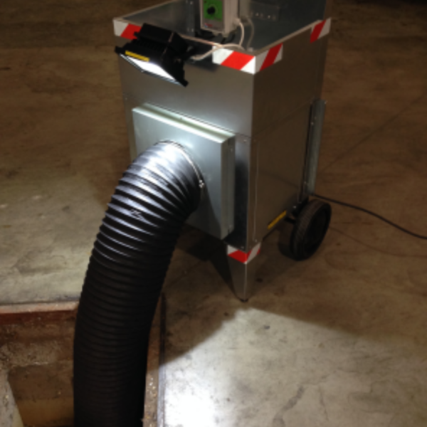 portable gas exhauster bad odours
