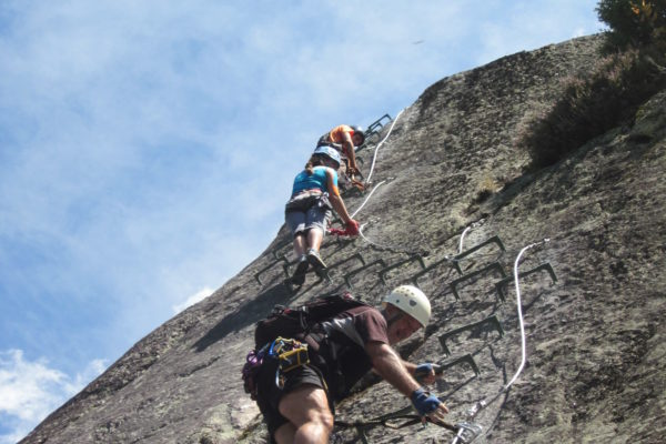 vias ferratas mountain steps