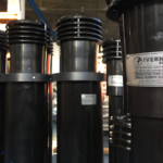 Activated carbon filter chimney