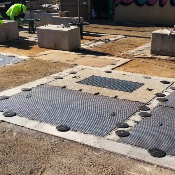 block manhole cover