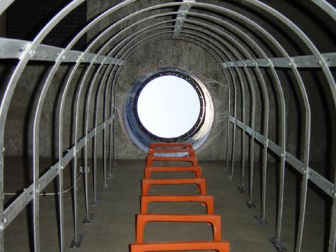 jaula de seguridad escaleras