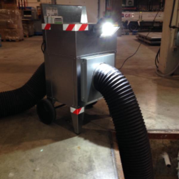cabina extraccion gases pozos