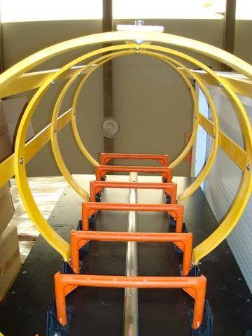 jaula de seguridad escalera de pates