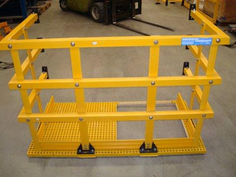 plataforma de descanso fibra de vidrio