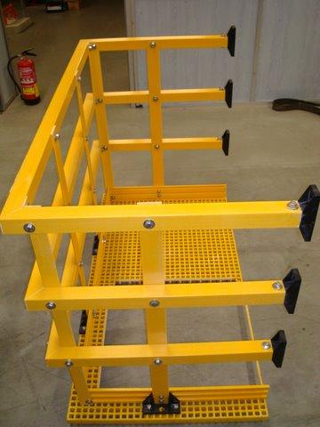plataforma descanso escaleras de emergencia