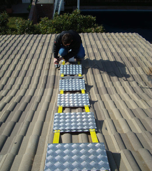 escalera extensible aluminio tejados