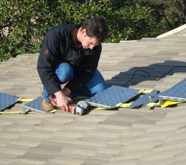 escalera plegable tejados