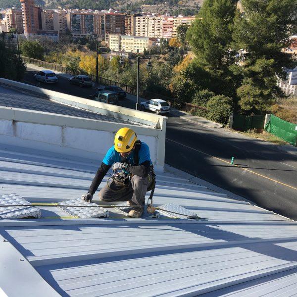 tejaflex escalera especial tejados