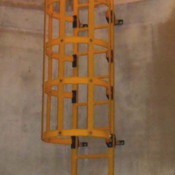 escalera de gato jaula de seguridad GRP