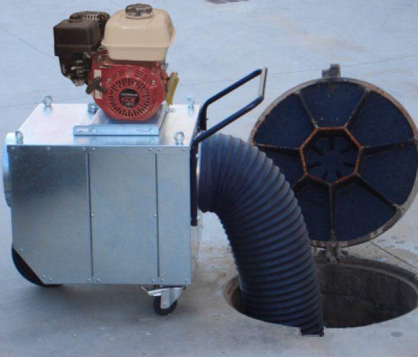 Ventiladores extractores para trabajos en espacios